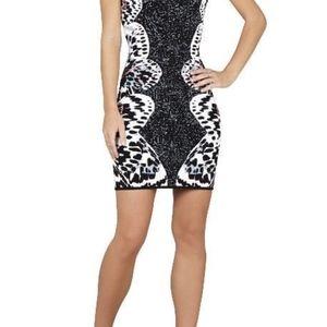BCBGMAXAZRIA Jacquard Bodycon Dress